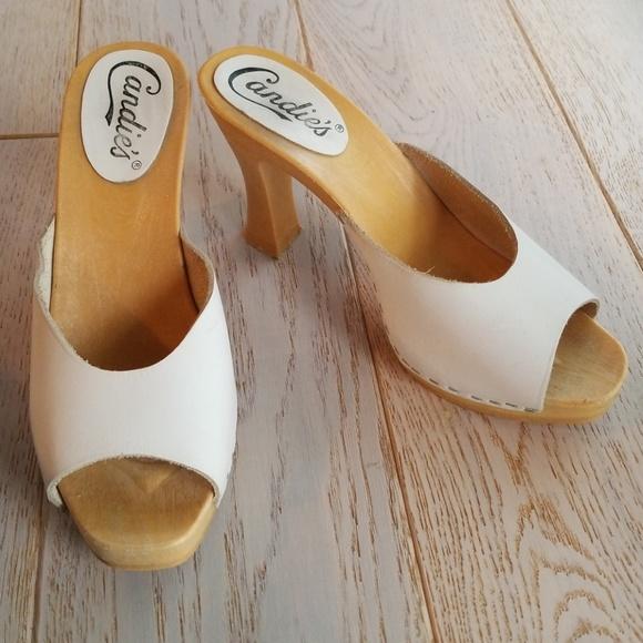 Vintage 8s Candies White High Heel